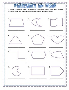 Polygon vs Not Polygon Sort and Practice Sheet