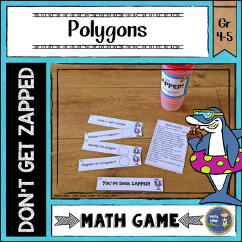 Polygons Don't Get ZAPPED Math Game