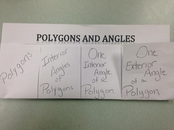 Polygons and Angles Foldable Fun