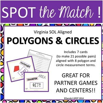 Polygons and Circles VIRGINIA SOL Grade 6 SPOT the Match G