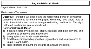 Polynomial Graph Match (with roots of multiplicity)