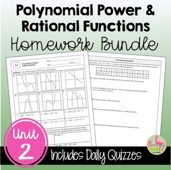 PreCalculus Polynomial Power and Rational Functions Homewo