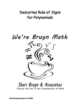 Polynomials - Descartes Rule of Signs