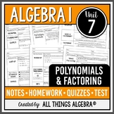 Polynomials and Factoring (Algebra 1)