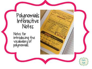 Polynomials Interactive Notes