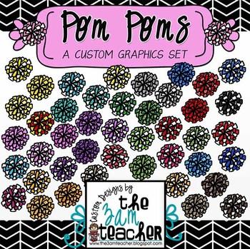 Pom Poms Clip Art Collection