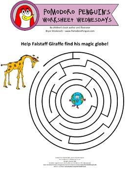 Pomodoro Penguin Worksheet Wednesday No. 2: Amazing Maze