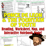 Ponce de Leon and the Fountain of Youth Reading, Worksheet