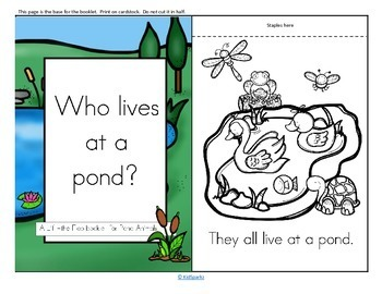 Pond Animals Informative Reader plus Puppets, Vocabulary