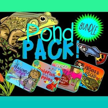 Pond Creatures & Habitats Bundle {Frogs, Goldfish, Guppies