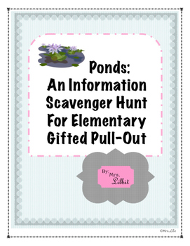 Pond Information Scavenger Hunt