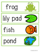 Pond Life Themed Pocket Chart Words and Beginning Sounds C