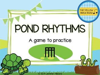 Pond Rhythms: a game to practice barred sixteenth notes