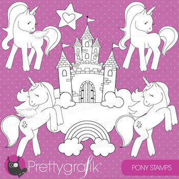 Pony stamps commercial use, vector graphics, images - DS514