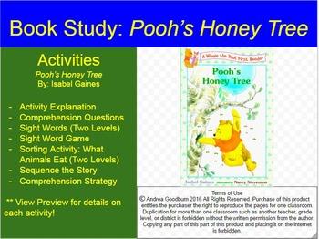 Pooh's Honey Tree:  Book Study, Comprehension Activities F