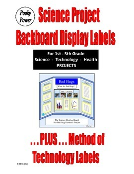 SCIENCE and TECHNOLOGY DISPLAY BOARD LABELS for Styrofoam Boards