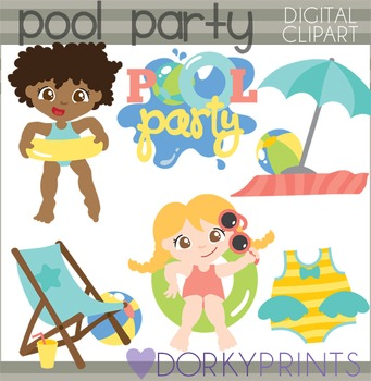 Pool Party Clipart