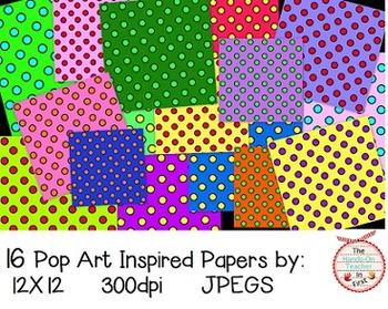 Pop Art Inspired Digital Papers!