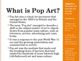 Pop Art PowerPoint and Art Project