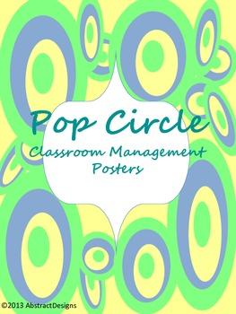 Pop Circle Classroom Management Posters