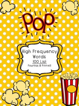 Sight Word Pop! 100 Word List