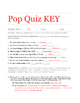 Pop Quiz 1: Check for Understanding & FREE Kahoot Review