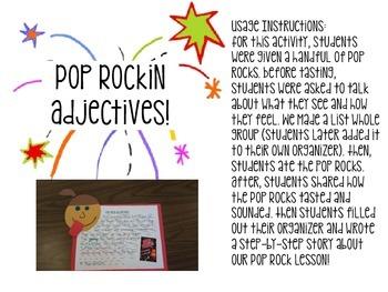 Pop Rock Adjectives Writing & Craftivity