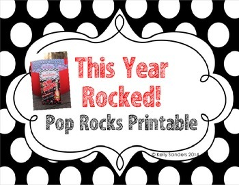 Pop Rocks End of Year Gift Tags