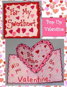 Pop Up Valentine Art Project