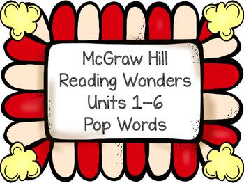 Pop Words ~ Reading Wonders ~ Units 1-6 Bundle
