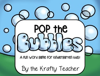 Pop the Bubbles - A Sight Word Game (Fry, Dolch)