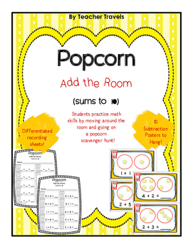 Popcorn Add the Room (sums to 10)