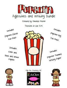 Popcorn Adjectives and Writing Bundle