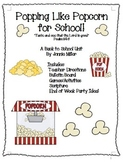 Popcorn Back to School Unit Christian Classroom!