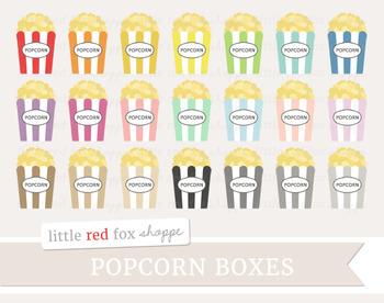 Popcorn Box Clipart; Movie Theater