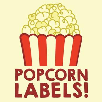 Popcorn Classroom Stationery Labels