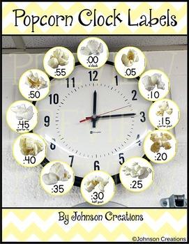 Popcorn Clock Labels