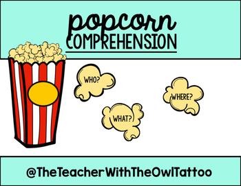 Popcorn Comprehension (listening center response)
