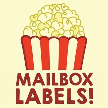 Popcorn Mailbox Labels
