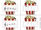 Popcorn Melody Matching--A printable stick to staff notati