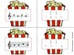 Popcorn Melody Matching--A printable stick to staff notati