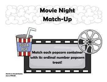 Popcorn Ordinal Number Match