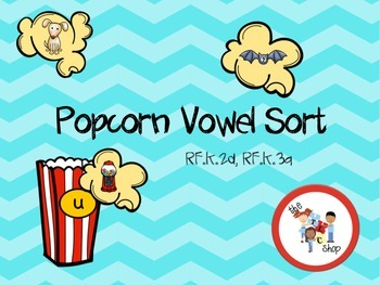 Popcorn Short Vowel Sort and Word/Picture Match