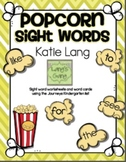 Kindergarten list-Popcorn Sight Word Activities