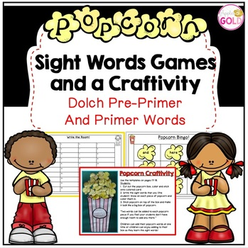 Popcorn Sight Words Games and Craftivity!