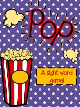 Popcorn Sight word POP!