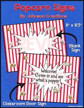 Popcorn Signs