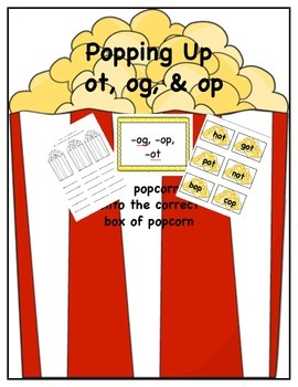 Popcorn Themed Word Sort