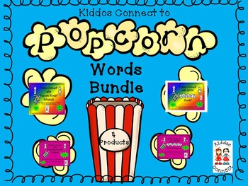 Kiddos Connect to Popcorn Word Bundle--4 products