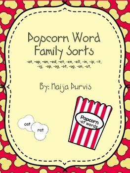Popcorn Word Family Sorts